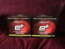 2 boxes Isagenix  E+ SHOT total energy drink raspberry Flavour