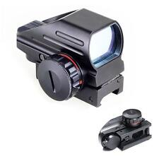 Tactical Holographic Reflex Red Green Adjustable Dot Sight Rail Mount Black KKJ