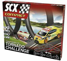 Scx Compact 1/43 Tornado Challenge Slot Car Set Electric Race Track #C10167 New!