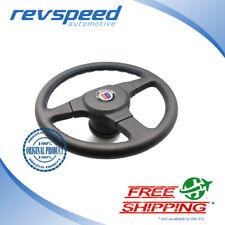 ALPINA BMW by MOMO Steering Wheel 3 Spokes Black Leather 360mm w/  MOMO Hub Kit