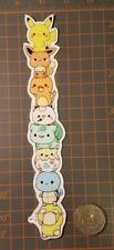 Pokemon Group Stripe Sticker Pikachu Charmander Bulbasaur Squirtle Cute