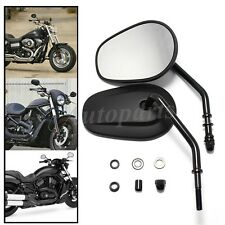 Black Matte Motorcycle Side Mirrors For Harley softail dyna fatboy ultra street