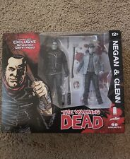 "NEW 2016 MCFARLANE THE WALKING DEAD SDCC EXCLUSIVE NEGAN & GLENN 5"" B&W 2 PK"