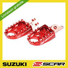 REPOSE CALE PIED EVO SUZUKI RMZ 250 RMZ 450 2010 2011 2012 2013 2014 ROUGE SCAR