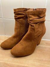 Ladies Shoes Size 7 Dorothy Perkins Boots Tan Heel