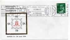España Exfilna 79 Burgos sobre conmemorativo año 1979 (DJ-511)