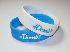 2 HEART ATTACK demi lovato Bracelet Wristbands lovatic strong WIDE