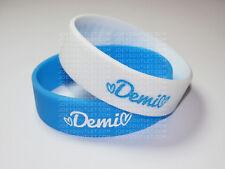 2 HEART ATTACK demi lovato Bracelet Wristbands lovatic strong WIDE