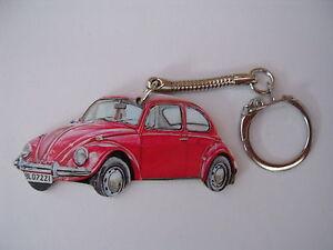 RED VW BEETLE CAR KEYRING. NEW. KEY RING