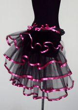 Pink Black Burlesque Tutu Skirt Bustle Belt size XS S M L XL