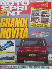 Autosprint 6 1991 Anteprima F1 Lieger JS35. Presentata la Jordan. Rover 114 sc.5