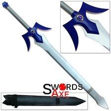 First Ever Knight Sword Blue Jewel Steel Art of War Cosplay Online Replica