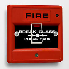 Red Fire Break Glass Broma Interruptor De Luz pegatina para caber Crabtree 1-gang forma 4070
