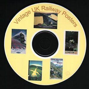 Vintage UK Railway Station Posters - Art & Craft CD Train Transport Holiday