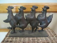 NEW Chicken Rooster Farmhouse Kitchen FARM Marching Dancing Figurine Decor