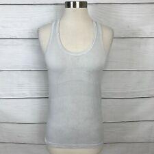 Lululemon Swiftly Tech Tank Top Size 6 White Sleeveless Workout Run Lightweight