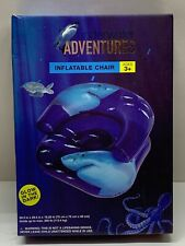 Underwater Adventures Inflatable Children's Chair Glow In The Dark Ages 3+ New