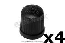 BMW (1967-2006) Wheel Valve Stem Cap (black plastic) ALLIGATOR (4) + Warranty