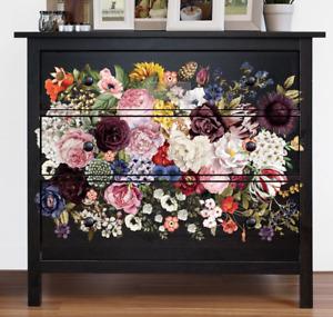 Wondrous Floral Furniture Decals ReDesign Prima Furniture Transfers Rub On