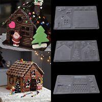 3D Mini Christmas House Silicone Fondant Mould Cake Decor Chocolate Cutter Mold
