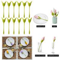 12Pcs Napkin Holders Table Green Twist Flower Buds Serviette Holder Table Decor