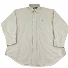 Tommy Bahama Dress Shirt Men's 16-1/2 34-35 Cream Striped Button Up Formal NWT