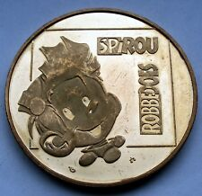 BELGIUM, TOME & JANRY Spirou Robbedoes Prooflike Medal 37mm 22g Brass Y12.2