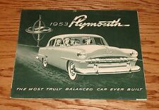 Original 1953 Plymouth Cranbrook & Cambridge Foldout Sales Brochure 53
