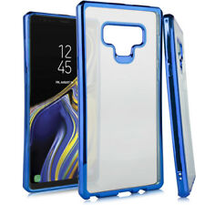For Samsung Galaxy Note 9 - Blue Chrome Soft Rubber Silicone TPU Skin Case Cover