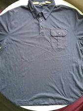 lands end polo blue short sleeve XL 46-48. #1i