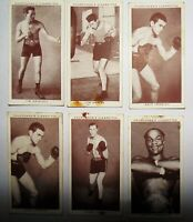 """Churchman Cigarette Cards """"Boxing Personalities """" issued 1938 Joblot"""