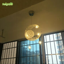 Moon Star Aluminum Pendant Light Ceiling Lamp Children Kid Bedroom Chandelier