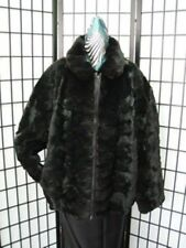 BRAND NEW BLACK SHEARED FOX FUR BOMBER JACKET COAT MAN MEN