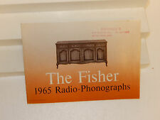 FISHER RADIO THE FISHER 1965 RADIO - PHONOGRAPHS BRIEF GUIDE BROCHURE