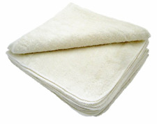 MuslinZ 12PK 20x20cms UNBLEACHED Bamboo Cotton Terry Wipes