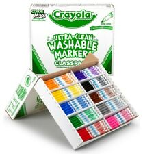 New listing Crayola Ultra-Clean Washable Fine Line Markers 200 count 10 colors