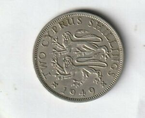 Cyprus, Two Cyprus Shillings 1949..