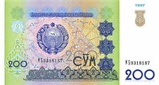 Uzbekistan 200 Sum  1997  P 80  Uncirculated Banknote