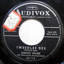 DOROTHY COLLINS 45 Tweedlee Dee / Get Happy JAZZ VOCAL Pop w1685