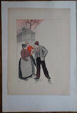 STEINLEN Théophile-Alexandre (1859-1923) - Lithographie couleur originale -
