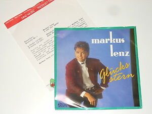 "Markus Lenz - 7"" Single + PRESSE-INFO - Glücksstern - Dino Music S 229"