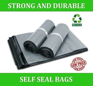 Grey Plastic Parcel BAGS 100% recycled MAILING Bag Postal Postage Bag Recyclable
