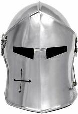 Medieval Barbuta Helmet Knights Templar Crusader Armour Halloween Roman Helmet