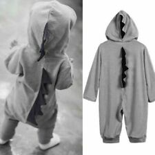 Newborn Infant Baby Boy Girl Dinosaur Hooded Romper Cute Jumpsuit Clothes Outfit