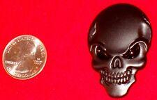 Black Logo 3D Metal sticker Badge Decal Skeleton Skull Bone Car Motorcycle Car
