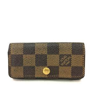 Louis Vuitton Damier Multicles 4 Ring Key Case /F0996