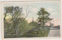 Kent postcard - Dane John, Canterbury - P/U 1908 (A1023)