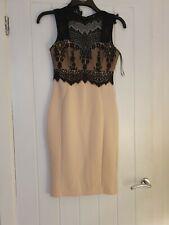 Lipsy michelle keegan Dress Nude/black Size 8