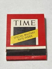 Time Magazine Special Military Rate Matchbook Cover Universal Match Corp NY