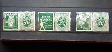 timbres belges : publicité 1929 1931 COB n° PU 20, 21, 22   NEUF *